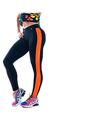 The New Foreign Trade Bodybuilding Leggings Thong Stitching Nine Points Slim Shaping Pants Yoga Pants