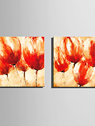 Mini pintura al óleo de tamaño de correo hogar moderno flores rojas pura mano dibujan pintura decorativa sin marco