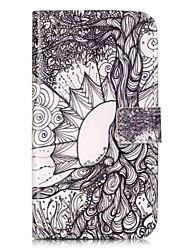 For LGK10 K7 K8 V10 LS775 Case Cover Life Tree Pattern Painting Card Stent PU Leather Phone Case