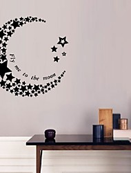 New Crescent Star Wall Stickers For Living Room Bedroom Decoration Wall Decals Creative Art Home Decor Removable