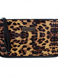 Women PU Fold over Clutch Clutch-Animal Print