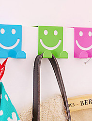 Creative Seamless Smiley Z-hook Home Space-saving Hooks Closet Organizer (Random Color)