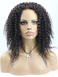 Hot Selling 180 High Density Natural Color Human Hair Kinky Curly Lace Front Wig for black women