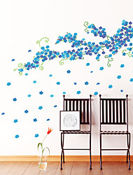 Wall Stickers Wall Decals Style Large Size Blue Plum Blossom PVC Wall Stickers
