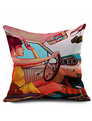 Original cartoon Cotton/Linen Pillow Cover Nature Modern/Contemporary Pillow Linen Cushion