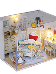 Dream princess room Manual assembly room villa house model children gifts Lights Lamp LED