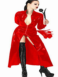 Women And Man's Unisex  Pvc Leather Coat Outfit Windbreaker Dance Clothes