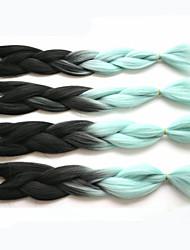 1-12packs bianco e di colore di Bule intrecciare i capelli a temperatura elevata intrecciare i capelli 100g / pcs estensioni dei capelli
