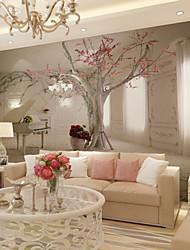 Цветочные Ар деко 3D Обои Для дома Современный Облицовка стен , Холст материал Клей требуется фреска , Обои для дома