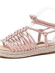 Women's Summer Slingback / Open Toe Leatherette Outdoor / Casual Platform Multi-color