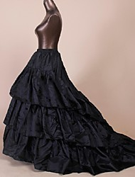 Slips Ball Gown Slip / Chapel Train Floor-length 3 Polyester Black