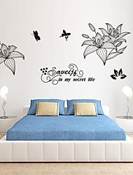 Romance / De moda / Florales Pegatinas de pared Calcomanías de Aviones para Pared,PVC S:31*65cm/ M:58*120cm/ L:75*155cm