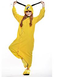 Kigurumi Pyjamas New Cosplay® Dog Gymnastikanzug/Einteiler Fest/Feiertage Tiernachtwäsche Halloween Gelb Patchwork Polar-Fleece Kigurumi
