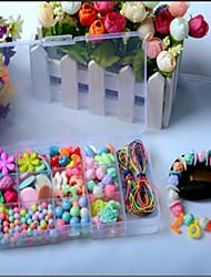 brinquedos educativos para crianças de 15 caixa de jóias de contas