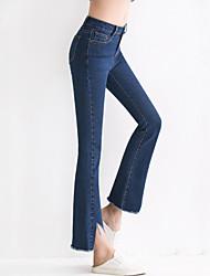 Pantalon Aux femmes Jeans / Bootcut Décontracté / Simple Coton Elastique