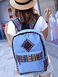 Fashion Unisex Canvas / Polyester Weekend Bag Backpack / School Bag-Multi-color