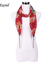 D Exceed Jewelry Scarves 7 Colors Print Leopard Fashion Chiffon Scarf Necklaces For Women / Lady's With Long Tassels