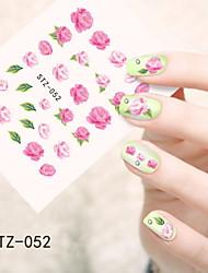 1pcs  Water Transfer Nail Art Stickers Red Lips Flower Lovely Cartoon Nail Art Design STZ51-55
