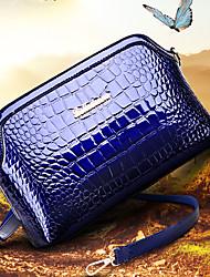 VUITTON Women PU Shell Shoulder Bag / Satchel-Blue / Red / Black