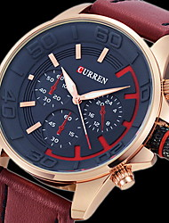 Men's Army Design Military Watch Japanese Quartz Leather Strap Cool Watch Unique Watch Fashion Watch