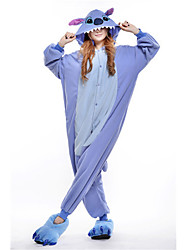 Kigurumi Pajamas New Cosplay® Monster Leotard/Onesie Festival/Holiday Animal Sleepwear Halloween Blue Patchwork Polar Fleece Kigurumi For
