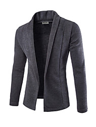 Men's Casual/Daily Formal Regular Cardigan,Solid Long Sleeve Cotton