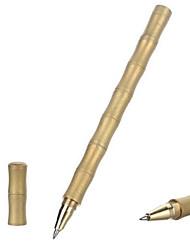 fura ao ar livre de bambu em forma de superfície fosco de bronze tática caneta de tinta preta - ouro