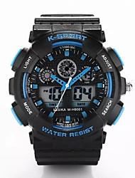 Masculino Mulheres Unissex Relógio Esportivo Digital Plastic Banda Luxuoso Preta
