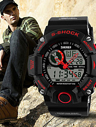 SKMEI® Men's Analog-Digital Silicone Band 30m Water-resisstant Multi-Functional Sports Watch Cool Watch Unique Watch Fashion Watch