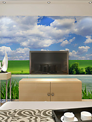 Artistico Carta da parati Contemporaneo Rivestimento pareti,Carta Prairie Sky and Clouds Large Mural Wallpaper