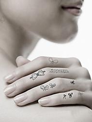 -Tattoo Aufkleber-Non Toxic / Muster / Waterproof-Tier Serie- fürDamen / Herren / Erwachsener / Teen-Mehrfarbig-Papier-5Stück -7*10*1cm-