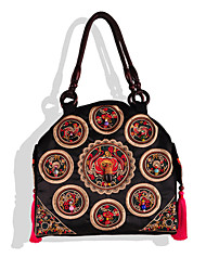 Women Canvas Weekend Bag Shoulder Bag-Multi-color