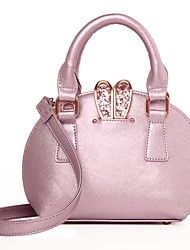 Women PU Formal / Casual / Wedding / Outdoor / Office & Career / Shopping Shoulder Bag / Tote / Satchel / Evening Bag Pink / Black