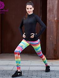 Corrida Blusas Mulheres Manga Comprida Respirável / Secagem Rápida / Vestível Elastano / Náilon Chinês Ioga SMOEDOD Wear Sports