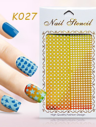 New Nail Art Hollow Stickers Love Heart Shape Star Flower Geometric Design Nail Beauty K021-030