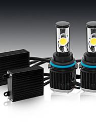 2pc 50w extrema qualidade super brilhante cree carro levaram lâmpadas de farol de carro h11 h3 H7 h1 levou farol