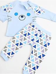 Completo Girl Inverno Cotone Blu