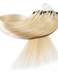 neitsi® 20inch micro anneau boucles extensions de cheveux humains sonne cheveu humain 24 #