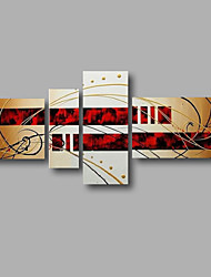 """Stretched (Ready to hang) Hand-Painted Oil Painting 62""""x32"""" Canvas Wall Art Modern Abstract Home Deco Beige Red"""