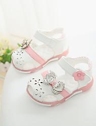 Baby Shoes-Tempo libero / Casual-Sandali-Finta pelle-Rosa / Rosso / Bianco