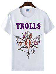 flaming monde light® of warcraft wow course cosplay troll t-shirt en coton lycra