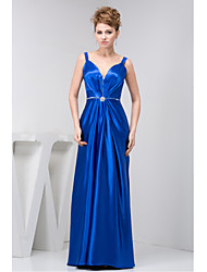 Formal Evening Dress Sheath/Column Straps Floor-length Charmeuse