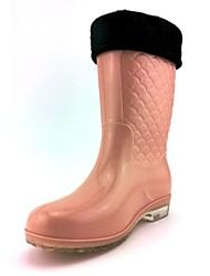 Women's Spring / Summer / Fall / Winter Rain Boots Silicone Outdoor Low Heel Blue / Brown / Pink