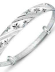 Pulseiras Bracelete Prata Chapeada Others Original Moda Casamento Jóias Dom Prateado,1peça