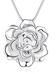 Necklace Pendant Necklaces Jewelry Party / Daily / Casual Fashion Silver Plated Silver 1pc Gift