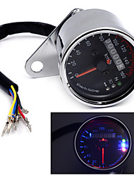Universal Motorcycle Dual Odometer KMH Speedometer Gauge LED Backlight Signal