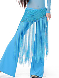 Belly Dance Belt Women's Training Spandex Tassel(s) 1 Piece Hip Scarf