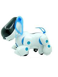 Machine chien allume jouet en plastique blanc musique / bleu pour les enfants
