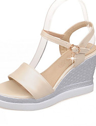 Women's Shoes Leatherette Wedge Heel Wedges Sandals Wedding / Party & Evening / Dress / Casual Pink