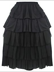Women's Ruffle Shaperdiva Steampunk Gothic Maxi Skirts Tiered Corset TUTU Dress